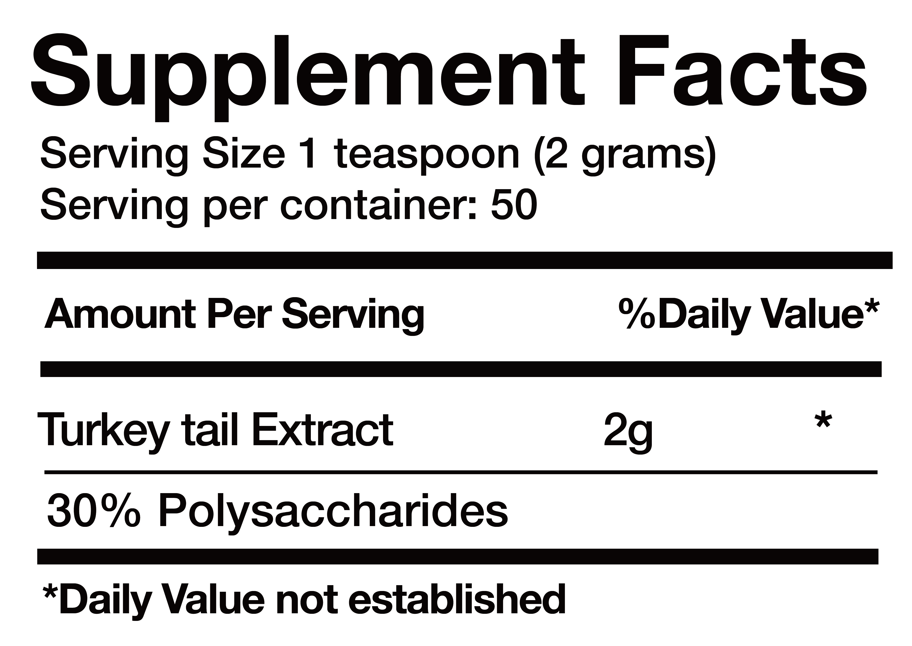 Turkey Tail Extract nutrition facts